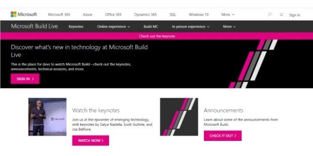 Microsoft Build Live 2018